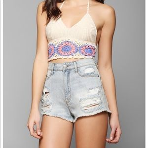 Ecote floral crop top urban outfitters